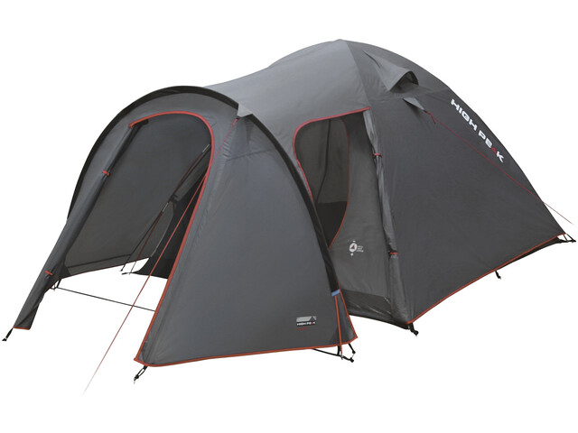 High Peak Kira 5 Tent dark grey/red